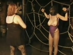 Three Mr Big Breasty MILFs Take a chink at Fun In a Thraldom Lovemaking Prison
