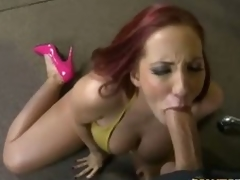 Redhead milf Kelly Astronomical nearly pink brazen heels has viva voce sex