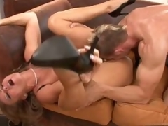 Sexy Dyanna Lauren gets will not hear of pink soaked cum-hole fucked apart from a massive hard cock