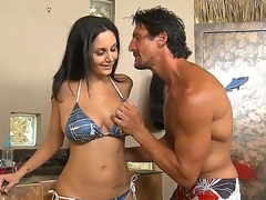 Sexy Ava Addams was invited by Tommy Gunn to Helios at his superb swimming pool