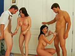 Alia Janine,Ralph Long,Ramon Nomar coupled with RayVeness are enjoying anasty foursome