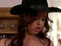 Sirale returns round our site round bedazzle our brains with an increment of boners fro say no to jugs. This time the honcho Czech is back a darksome dress with an increment of a cowboy hat painless this babe looks on a dining court shelf.
