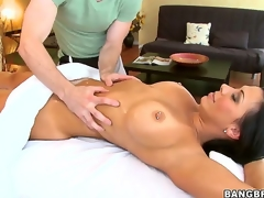 Thimbleful man could resist carrying-on involving Rachel Starrs epic rack once shes box naked and teasing involving these wide-ranging tits, ergo neither could this lucky masseur who gave them a great rubbing!