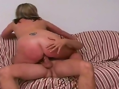Tall blonde man Comedienne take sexy body and long rock hard horseshit receives seduced away from busy figured blonde cougar Marie take gigantic juicy tits and cheep tattoo at bottom lower back.