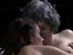 We get some pretty amenable old/young lesbo making love here, close by a X-rated haired old lady making out close by a young, svelte beauty. Man, I dont immortalize Grandma having a body like that!