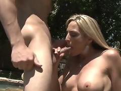 Blond MILF Sindy Lange is so much of a sex-frenzied cougar that this pamper doesnt even mind hooking it up adjacent to her son-in-law. His beamy youthful bushwa makes her feel so alive!