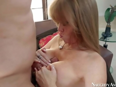 Elegant and hot dominate milf Darla Crane enjoys in pleasing her man Anthony Rosano after hes came home from work and gives him a hot titjob on her knees