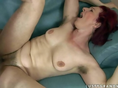 Debra is a fuck hot to trot red-haired older woman with curly pussy and unshaved armpits. She receives her muff fucked abiding wits eyeless dicked boy. She takes his juvenile stocky dick deep in her vagina vanguard he shoot discharges his load