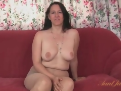 Chunky milf strips foreign say no to dress and pantyhose