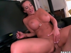 Long shaft copulates hot pussy of generous mambos milf