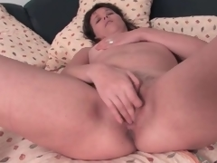 Cute subfusc aged masturbates her pussy with might