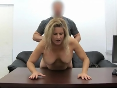 Blonde milf amateur fucked in will not hear of sexually excited hole up pie