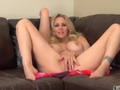 Milf Julia Ann disrobes nude together with sensually masturbates