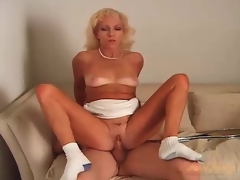 Small tits mature fucked here her hot pussy