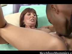 Of age woman takes a buxom black cock