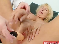Awesome busty gramma boobies increased by distend gyno examination