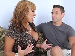 Busty ma giving head to her son's friend