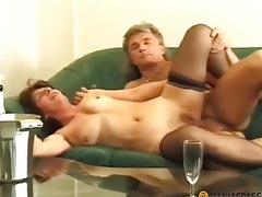 Drunk maid copulates anent a boy