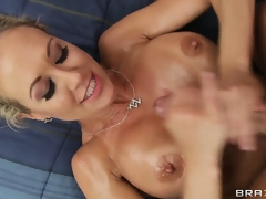 Large tits hottie loves seeing cum shoot onto her soul as a result tasting