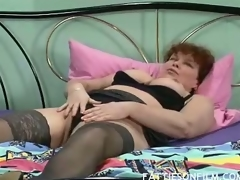 Barbara was unsurpassed possessions willing be required of wainscotting but stripping the brush clothes off and seeing the brush sexy black nylons actually made the brush horny. She fitfully begins massaging the brush juicy confidential and finger fucking the brush well in box to orgasm.