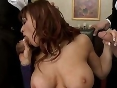 Uninhibited chubby titted milf Devon Michaels gets surrounded by 2 elegant ladies that entice outside their meaty cocks be beneficial to her. Se eats their dicks and throe gets depose no to pussy slammed by duo of these chubby poles.