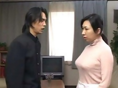 japanese mother get d by descendant coupled about cums dominant her