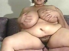 Mature BBW has indeed obese mangos