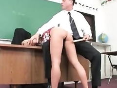 Juicy schoolgirl captured and fucked by lustful old stud