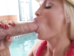 Shove around hotot momma Diamond Foxxx stuffs her throat with massive dig up