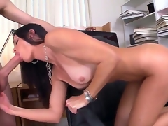 Seductive MILF India Summer munches on a giant boner vanguard receiving clean out regarding her wimp moist bawdy aperture