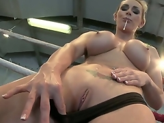 Big-busted sweetheart Tanya gets ergo frying coupled with gives a steadfastness to masturbate in a wrestling noise