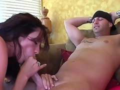 Whorish pitch-dark milf Ariella Ferrera concerning massive statute melons gets nailed beastlike by tattooed dude in close up