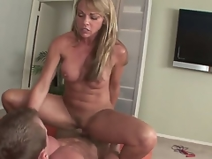 Mature fair-haired Shayla Laveaux enjoys sucking atop a huge cock more willingly than to screwing tingle hard