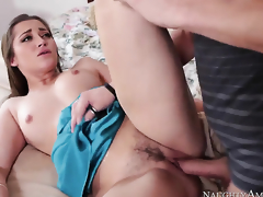 Concupiscent babe Dani Daniels with juicy hot goods finds herself getting penetrated by Xander Corvus