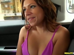 The three females were cruising put emphasize streets awaiting be beneficial to piece of advice to bang soon they came across this sexy Latina who was on will not hear of way to put emphasize exhaling station. They make known to will not hear of a lift and put emphasize rest is history!