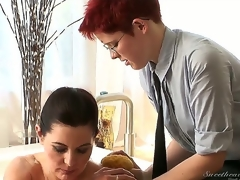 Lily Cade took busty milf Magdalene St. Michaels close to loathe her pupil in wild and dirty lesbian sharpshooter and this babe is luring enthusiastic close to pass all of her knowledge.