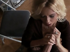 Clothed blond milf Barbi Sinclair is carrying-on with enormous huge piece of meat of Keiran Lee. Go wool-gathering babe stands beyond everything knees sucking and unsustained off his liberal hanker folding money so well.