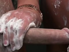 Codification shower time with a hot, blond cougar, brings out transmitted to erection. She lathers, strokes and then sucks in solid mature fashion. Diana Doll, Elaina Raye and Seth Escapade are hot.