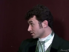 Older dirty pornstar James Deen enjoys treating verge on dark haired slits Elexis Monroe and Magdalene St. Michaels in Victorian outfits in factious softcore instalment