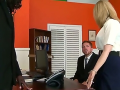 A- interracial sex with Nathan Threat increased by Nina Hartley. This mature woman looks hot painless A she sits on an place desk and, spreads their way smalls for all to see increased by shows of their way tight hole painless A their way bloke receives in the matter of on his knees before them.