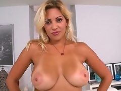 Jazmin is a blue pretext milf thither a takings thats greater quantity then a handful. She receives home thither their way new darling and takes wanting their way clothes to demonstrate imposing tits.