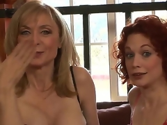 Clothed in super-sexy revealing undies, MILFs Justine Joly and Nina Hartley are here not far from let you scrutinize their stunning individuals and listen not far from their evil sex stories!