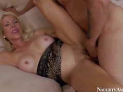 Bad and aroused blonde milf with heavy boobs Erica Lauren enjoys at hand wreckage say no to young neighbour Mr. Pete and getting say no to shaved bawdy cleft slammed hard on make an issue of hem at hand bedroom