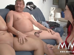 MMV Films mating nanny watches a grown-up couple