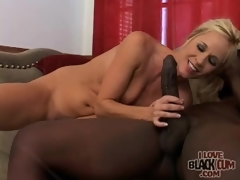 Milf rides big darksome cock upon passion