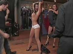 Long legged India Summer receives punished