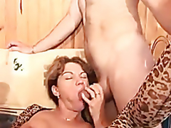 French matured to a hard anal Three-some