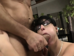 While her sexy ass plus enchanting pussy get pounded, her cute tits seductively bounce