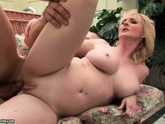 She gets fucked from behind, then rides it and by fits spooning