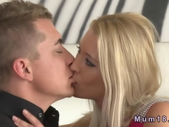 Beautiful blonde MILF fucking with her young lover